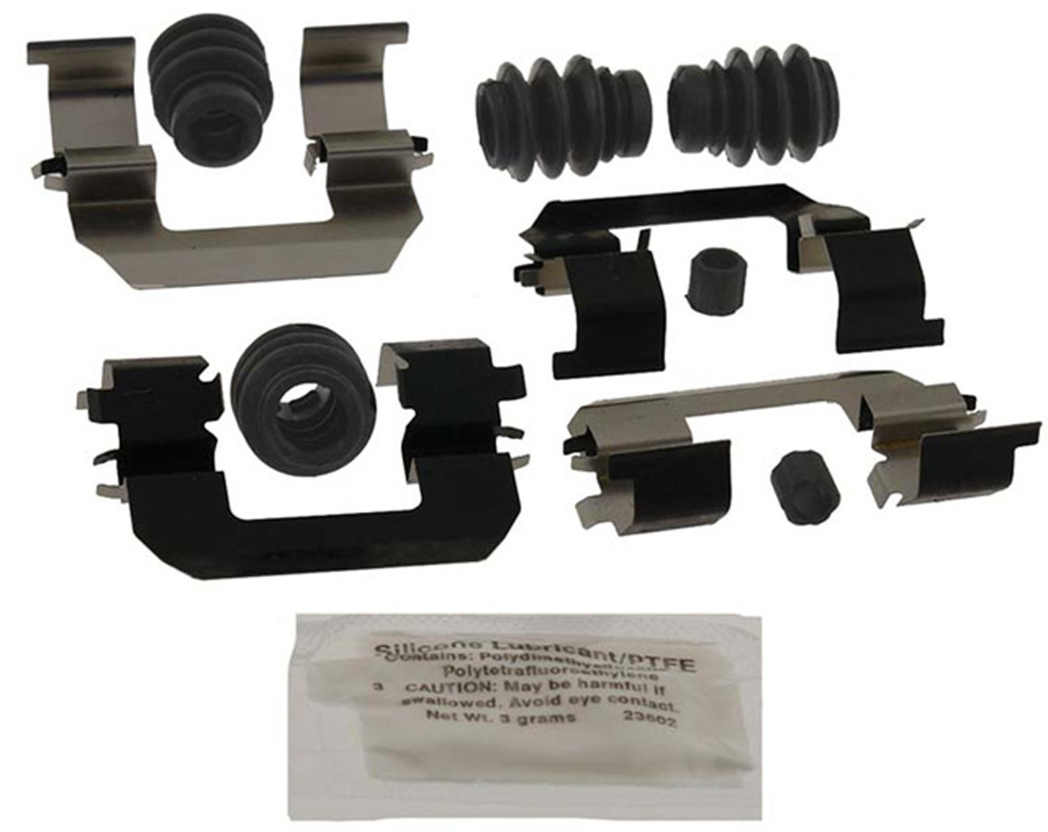 ACDelco 18K1989X Professional Front Disc Brake Caliper Hardware Kit with Clips, Seals, Bushings, and Lubricant