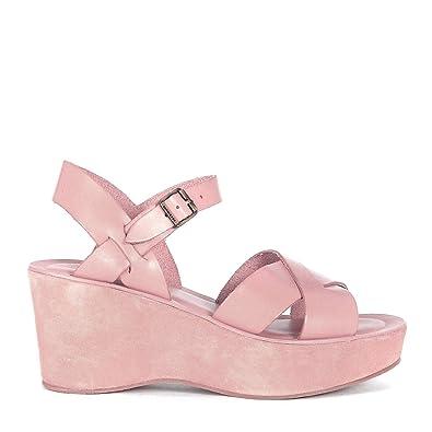 Cuir Kork Rose En Ease Ava Sandale Poudre Modèle Avec Compensée n6OHq0a6w