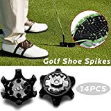 14 PCS Replacement Golf Spikes Pins 1/4 Turn Fast Twist Shoe Spikes
