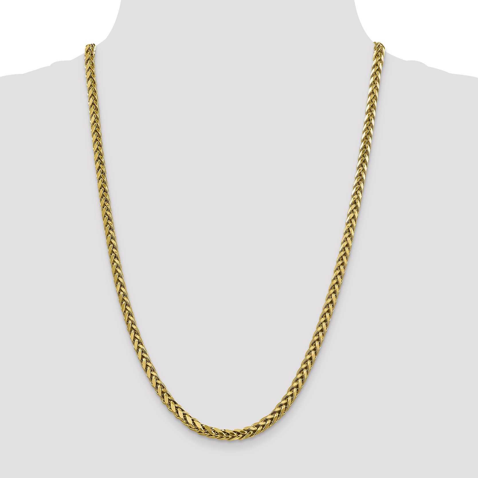 ICE CARATS 14k Yellow Gold 5mm Link Wheat Chain Necklace 18 Inch Spiga Oval Fine Jewelry Gift Set For Women Heart by ICE CARATS (Image #2)