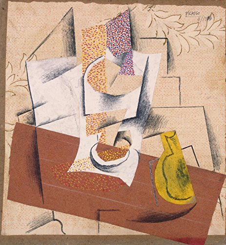 Picasso Mixed Media - Aenx Pablo Picasso - Composition with a Sliced Pear Mixed Media The State Hermitage Museum - St Petersburg 30