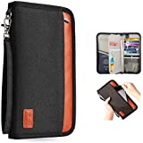 Passport Holder RFID Blocking Multifunction - Travel Wallet for Family Larger Capacity Waterproof Travel Document Wallet for Men and Women