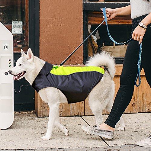 VIZPET Dog Raincoat Waterproof Lightweight & High Visibility Dog Coat Jacket for Small Medium Large Dogs