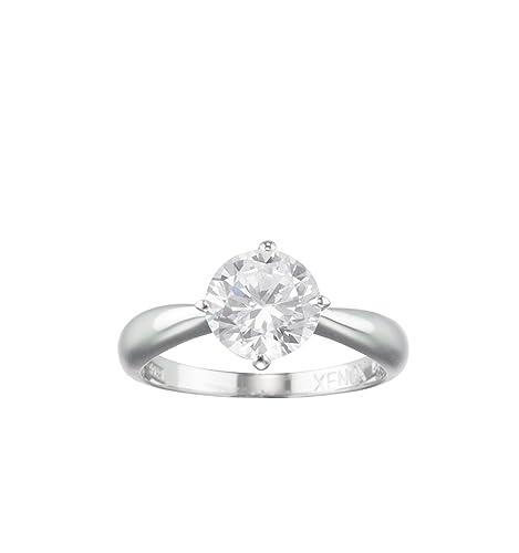 Xenox Solitaire Women Ring Silver Amazon Co Uk Jewellery