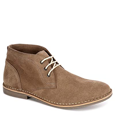 Franco Fortini Mens Hudson Lace Up Chukka Boot Shoes, Taupe, US 9.5 | Boots