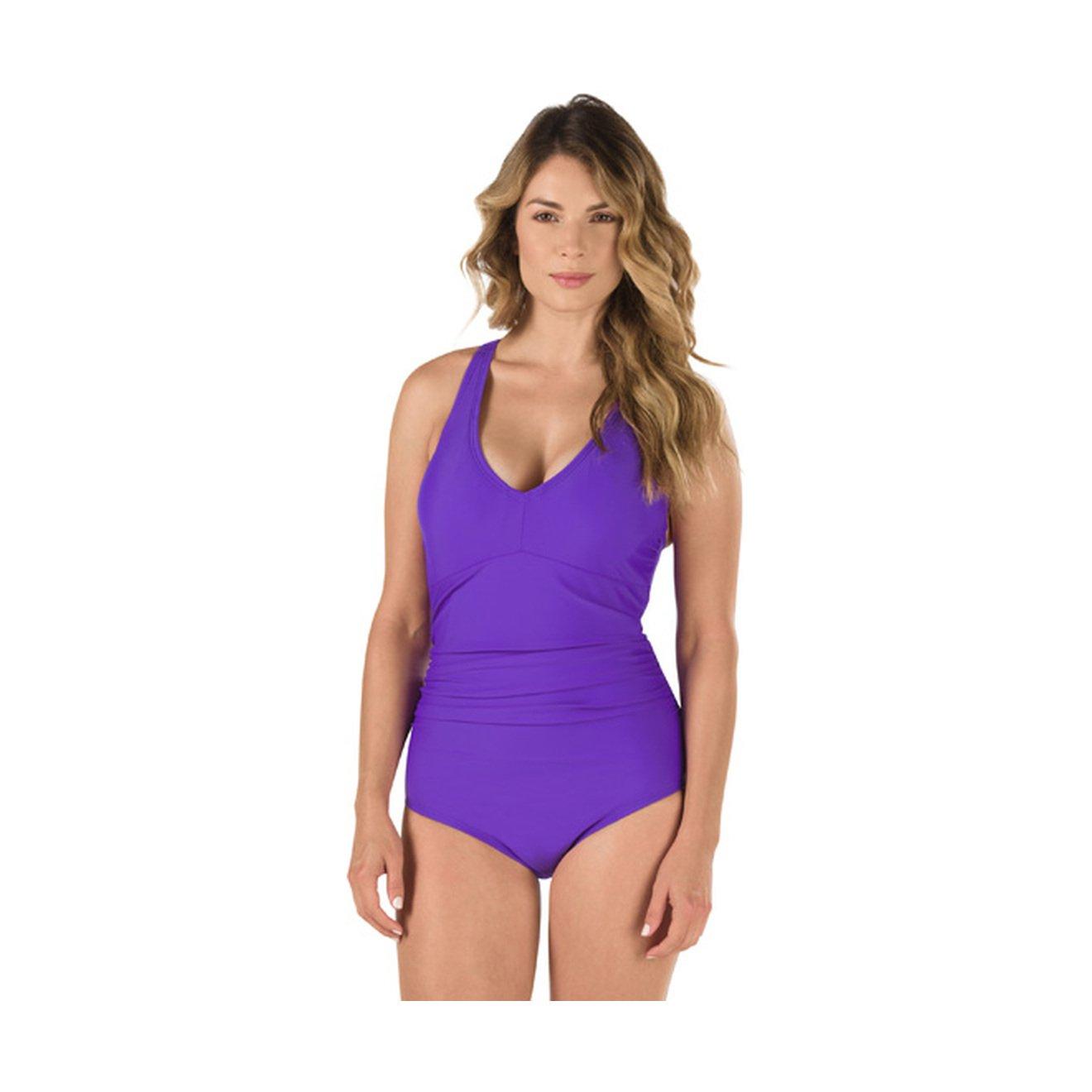 Speedo Womens V-Neck One-Piece Swimsuit with Underwire