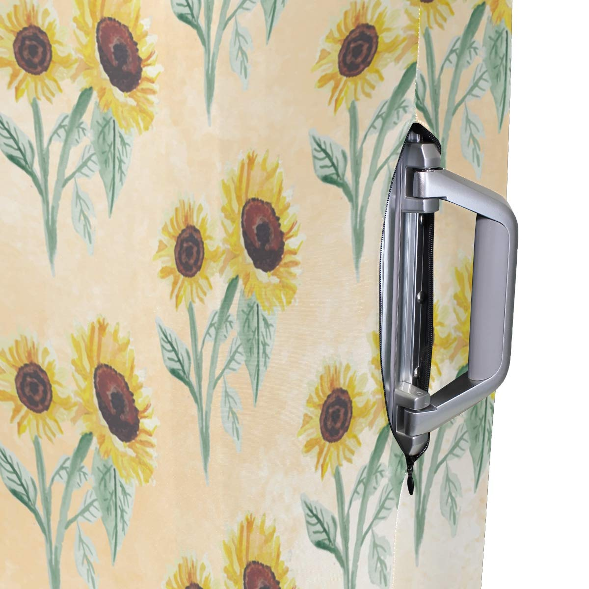 Baggage Covers Autumn Sunflower Pattern Paint Washable Protective Case