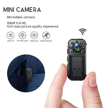 YEXIN Cámara Oculta WiFi de 1080P, Mini cámara de Seguridad inalámbrica pequeña con espía portátil