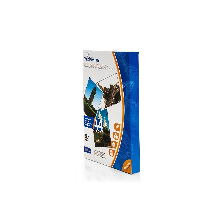 MediaRange MRINK103 carta fotografica glossy DIN A4 (210 x 297mm) 200gr 100 fogli