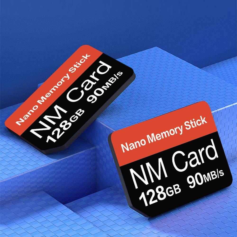YAOMAISI - Tarjeta NM de 128 GB, 90 MB/s, Tarjeta de Memoria Nano Mirco SD, Tarjeta de Memoria compacta, Solo Apta para Huawei P30\P30pro y Mate20 ...