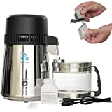 ECO-WORTHY 1 Gallon Water Distiller -Pure Water Distillation with Glass-Lined Nozzle Filter and Manual Power Switch…