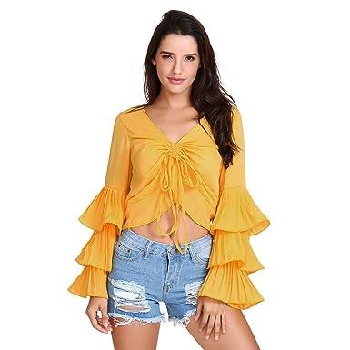 Junjie Damen Mode Top,Sweatshirt Größe Größe Herbst Winter Freizeit  Oberteile Persönlichkeit Lendenwirbelsäule Sexy Lace b40ccf56e5