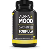 Performance Enhanced Nutrition - ALPHA MOOD | Best Mood Booster and Clear Mind Enhancer | Natural & Vegan Friendly | Made of Tumeric, L-Theanine, Lemon Balm, GABA Magnesium & Peperine | 60 Capsules