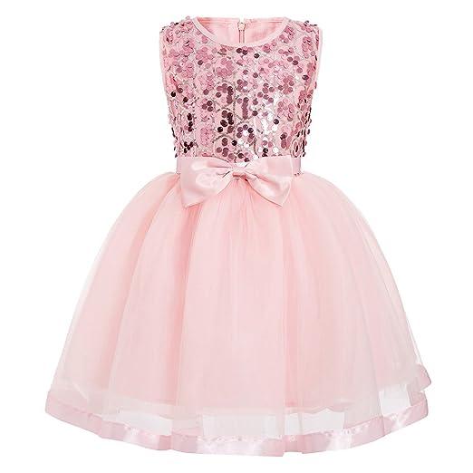 d38c9325331a Amazon.com  Fineser Little Girl Dress Princess Birthday Party ...