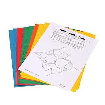 picture regarding Pattern Blocks Printable known as hand2intellect Paper Habit Blocks, Preset of 25