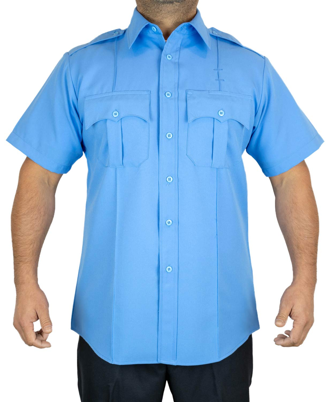 First Class Short-Sleeve Uniform Shirt M Light Blue by First Class