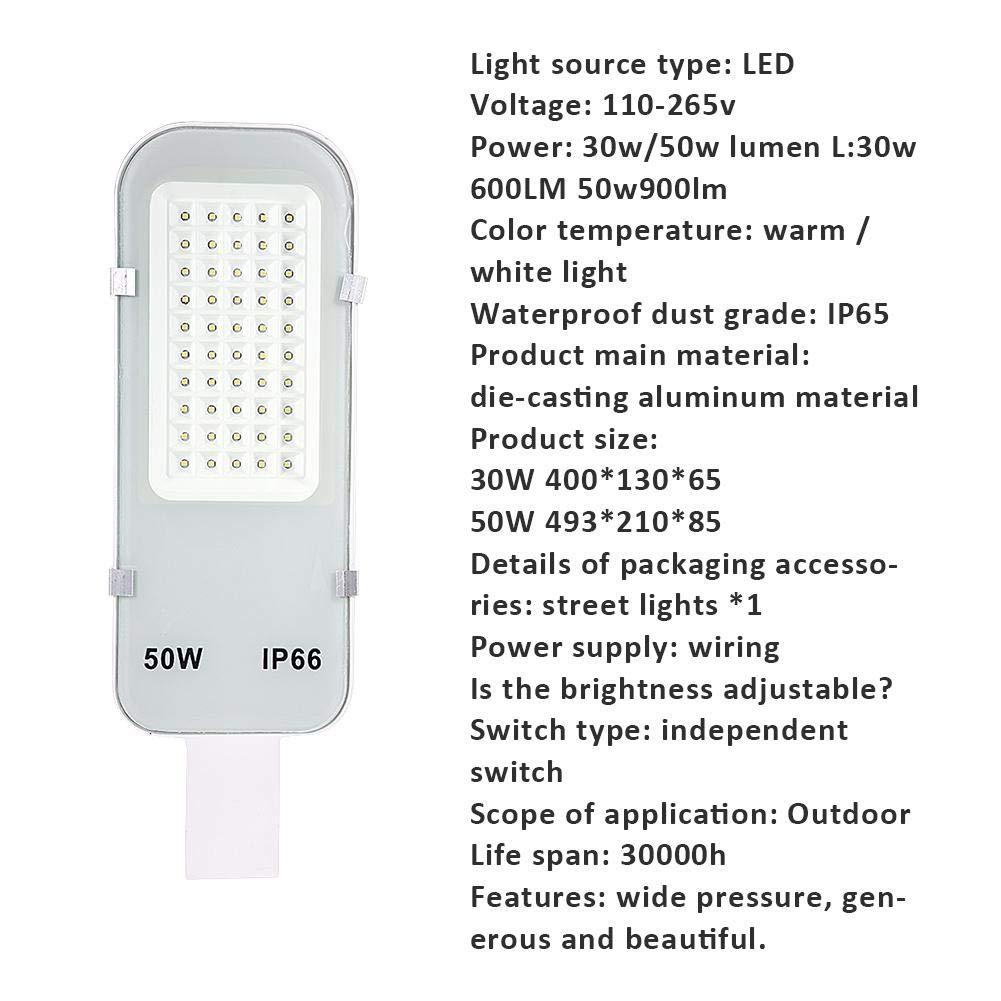 IP65 impermeabile strada lampada Lampione Stradale Led 30w // 50w Luci per sentieri LED Strada Strada Lanterna di inondazione della lampada di parcheggi all aperto Lampione a energia