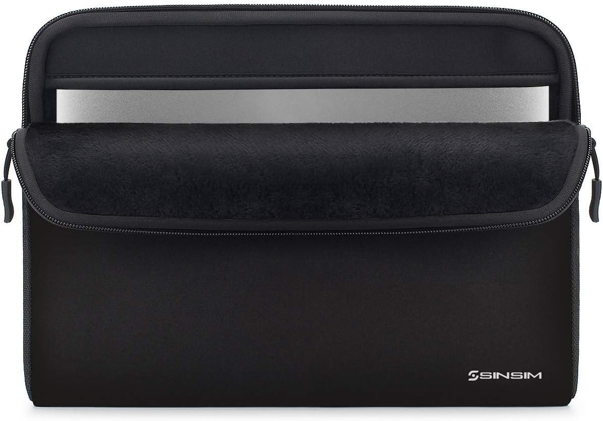 "SINSIM 14 Inch Laptop Sleeve Case Bag for 15"" Lenovo Chromebook S340 / Lenovo ThinkPad C340 E490 T490 T490s T590 / Dell Inspiron 3480 5482 5490 Chromebook 14/15"" Huawei MateBook D, Black"