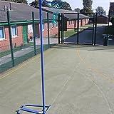 Freestanding Netball Post (School Standard) – Wheelaway Self-weighted Netball Package – Add Ball & Padding! [Net World Sports]