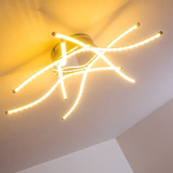 Deckenleuchte Mit LED Lichtschlangen Moderne Designer Leuchte Leuchtarmen Und Fest Installierten