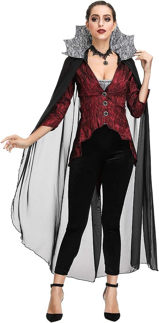 ZC Dawn Disfraz de Vampiro, Disfraz de Vampiro Adulto, Disfraz de ...