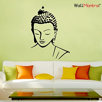 2b3311431 Buy WallMantra Buddha Wall Sticker Large (45x61 cm) Online at Low Prices in  India - Amazon.in