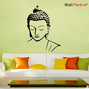 c05664694e4 Buy WallMantra Buddha Wall Sticker Large (45x61 cm) Online at Low ...
