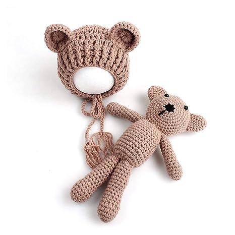 Lorenlli Bebé bebé tejido de punto Crochet Gorros Sombrero con ...