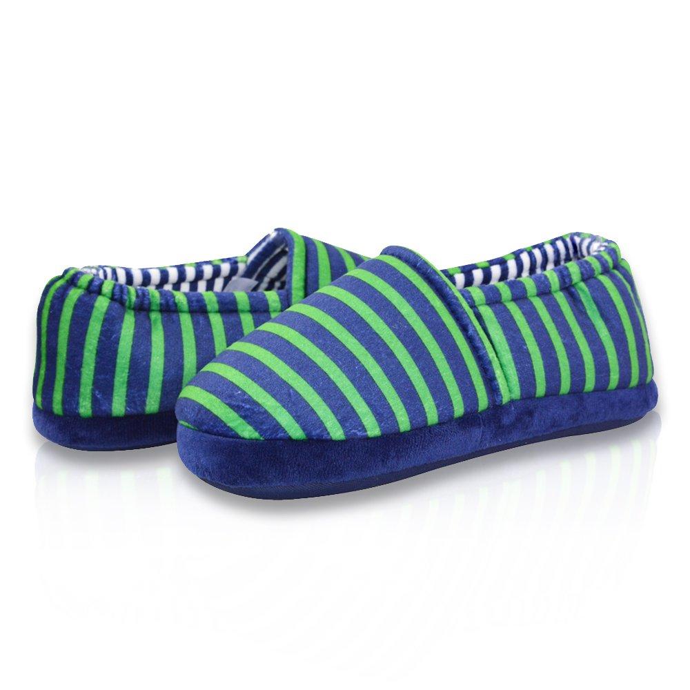 LA PLAGE Boy's Cute Soft Cotton Stripe Slippers DM-171