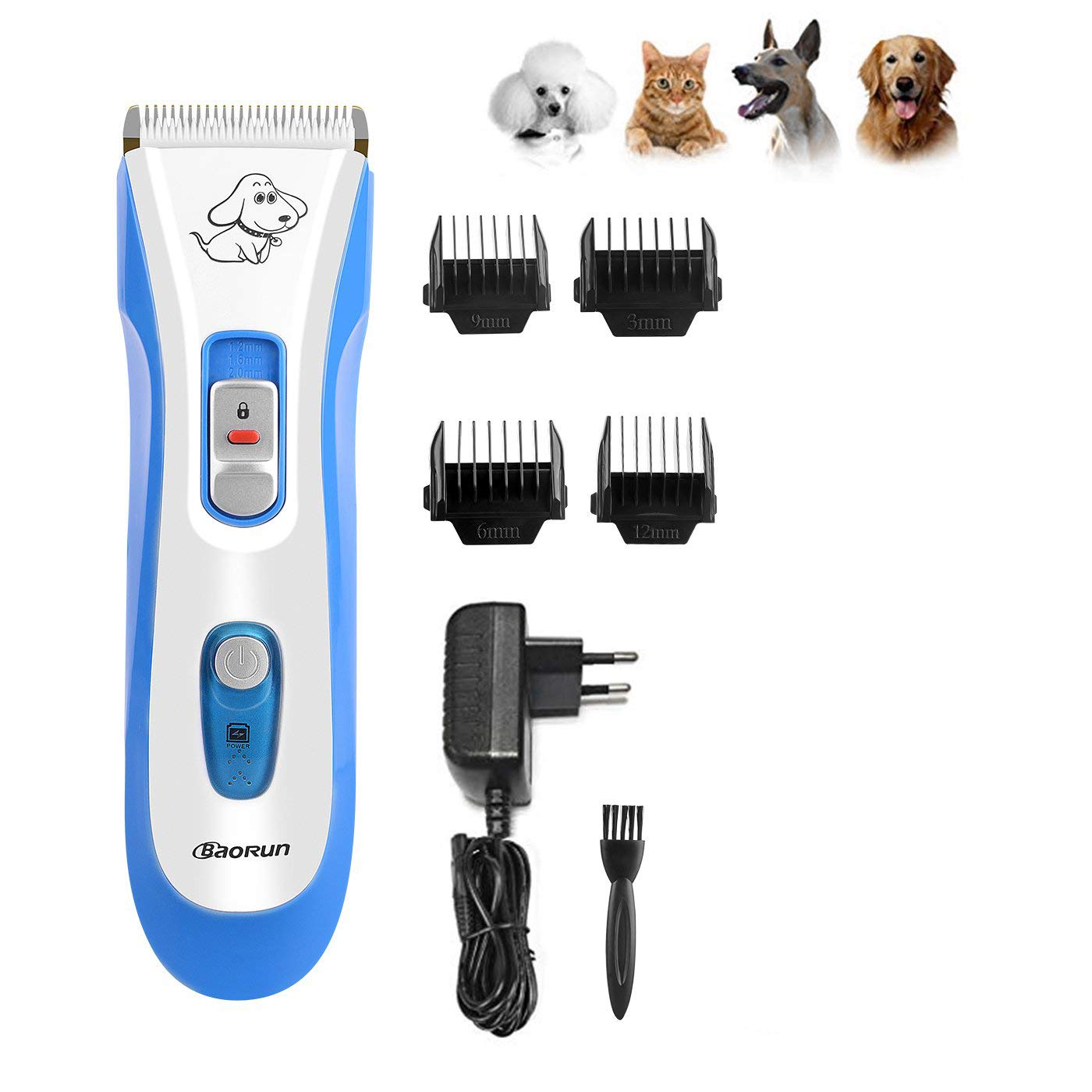 Low Noise Rechargeable Cordless Cat and Dog Clippers Professional Pet Clippers Grooming Kit,Animal Clippers Pet Grooming Kit