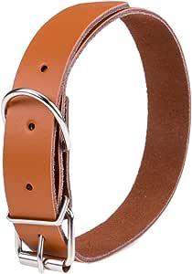 حزام رقبة جلد للحيوانات الأليفة لون بنى مقاس L رقم الصنف 1156 - 4