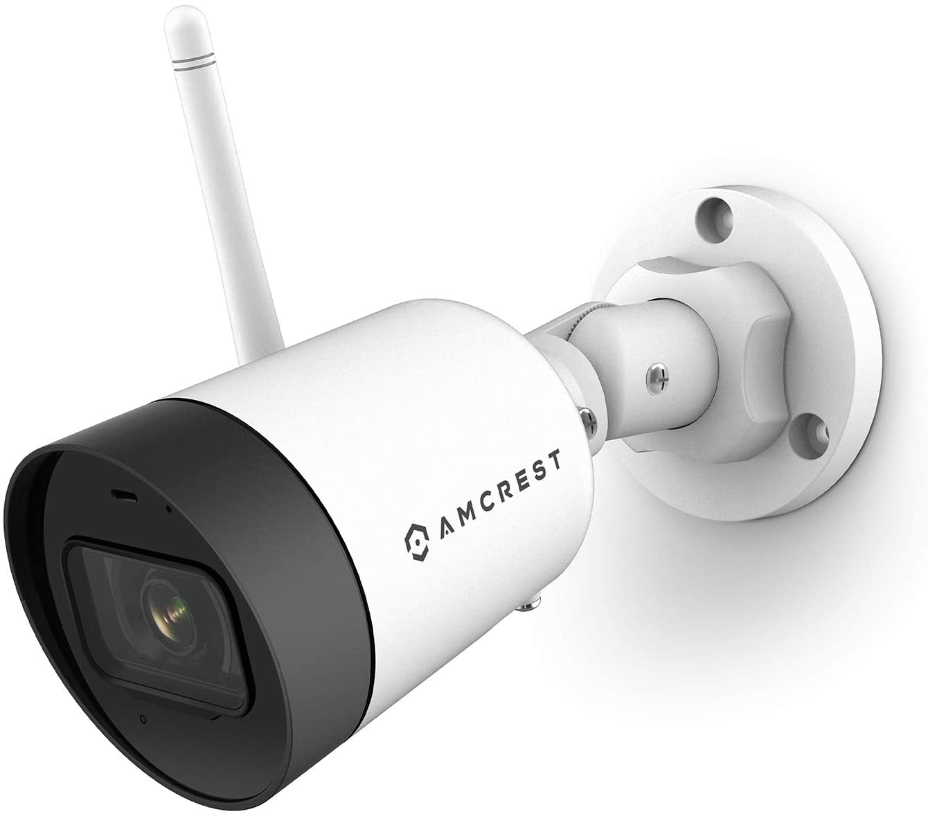 Amcrest SmartHome 4MP Outdoor WiFi Camera Bullet 4MP Outdoor Security Camera, 98ft Night Vision, Built-in Mic, 101° FOV, 2.8mm Lens, MicroSD Storage, ASH42-W (White)