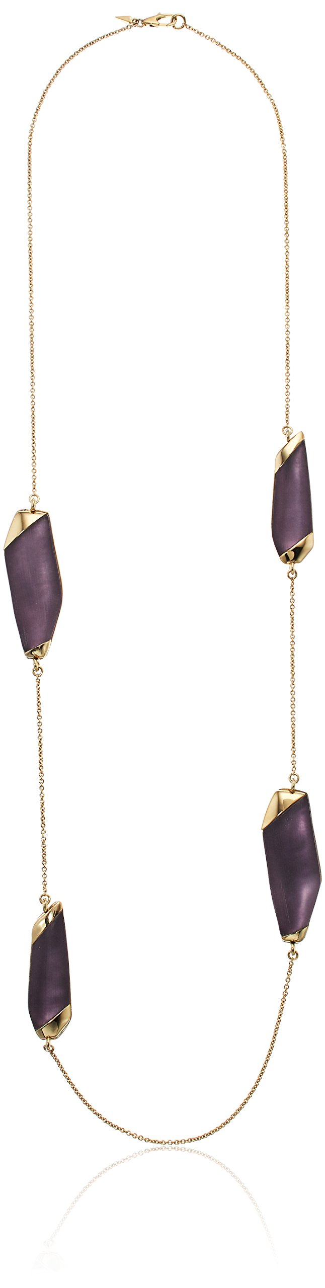 Alexis Bittar Lucite Station Deep Lilac Strand Necklace