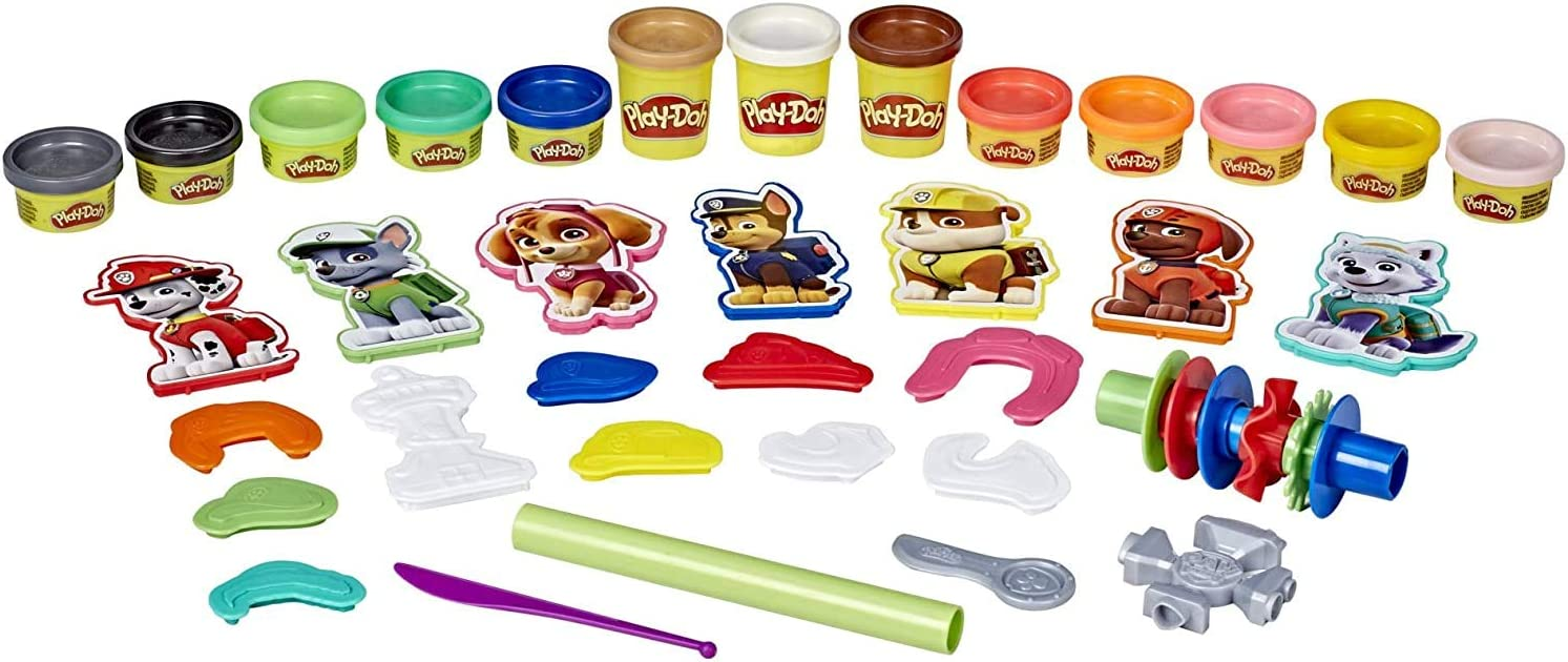 Play Doh 8 Pack of Rainbow Compound Play Doh PAW Patrol Hero Pack