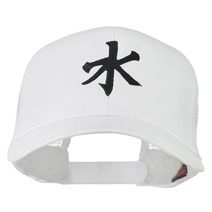 E4hats Chinese Symbol For Water Embroidered Cap White Osfm At