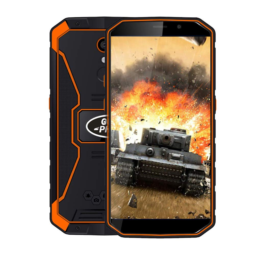 Unlocked Smartphone,2019 New 5.5''Ultrathin Android8.1 MT6739 Quad-Core 2G+16G 4G 6500mAh Mobile Phone Cell Phone (Orange)
