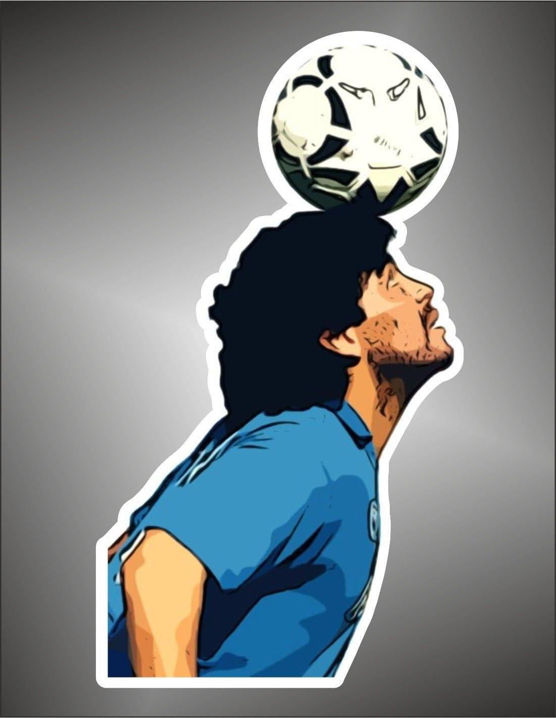 Adesivo Diego Armando Maradona Napoli Argentina football
