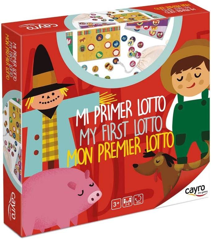 Cayro - Mi Primer Lotto - Juego de Mesa Tradicional - Bingo - Juego de Mesa (166): Amazon.es: Juguetes y juegos