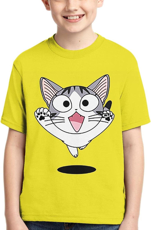 Chi'S Sweet Home Short Sleeves T-Shirt Cartoon Anime Fashion Tee Shirts Boys Girls Teensx-Small Black