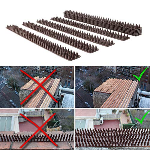 Haierc Plastic Bird Spike,Wild Cat,Fence Spikes,Snake Squirrel Yard Proof  Bird Spikes,Pet Repellent Fence for Anti-Climbing Security on Wall Window