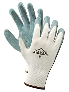 Magid Glove & Safety GP561-6 ROC GP561 Foam Nitrile Palm Coated Gloves, Size 6, White (Pack of 12)