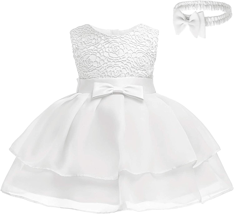 FUTURE FOUNDER Baby Mädchen Prinzessin Kleid Blumenmädchenkleid
