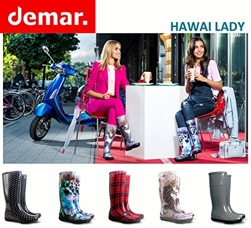 DemarAvenew - Botas de agua de trabajo mujer pata de gallo