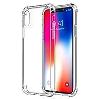 PUBAMALL Funda iPhone XR, Clear PC Cubierta Trasera con TPU Parachoques Marco híbrido Transparente Funda Protectora (Claro)
