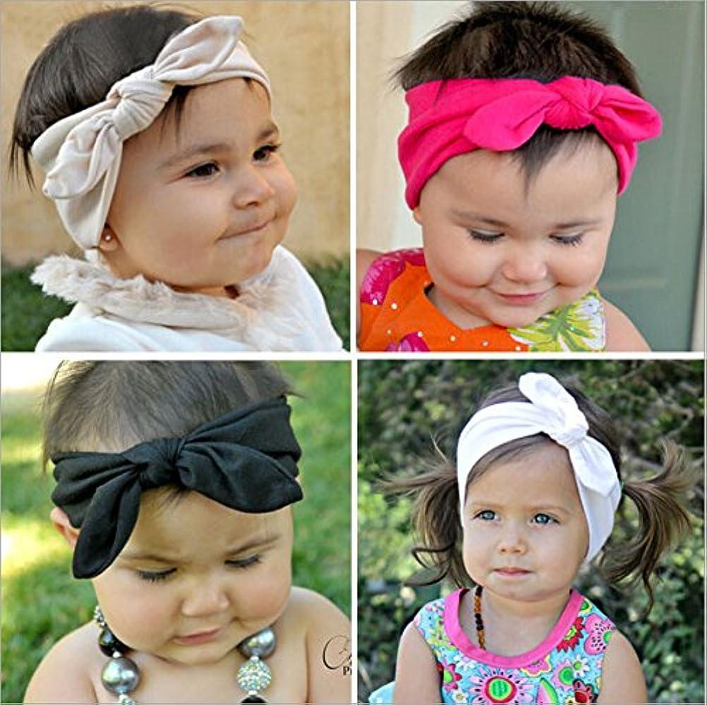 10x Cute Kids Baby Girls Elastic Headband Cotton Headwear Hairband Hair BanMAEK