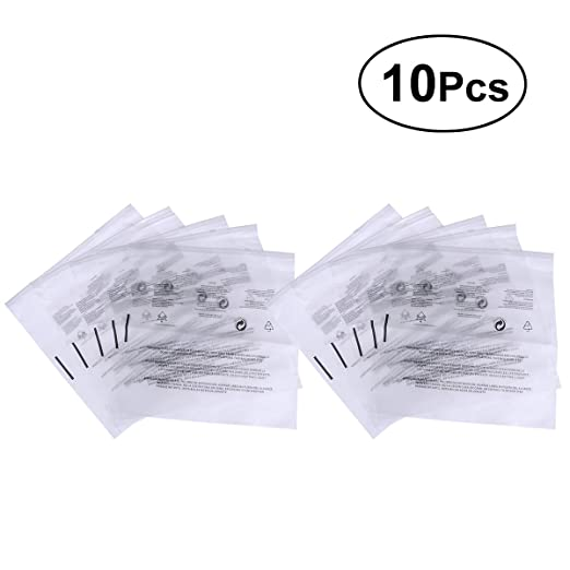 Amazon.com: VORCOOL 10pcs PE Valve Bag Reusable Plastic Clear Seal Bags Zipper Reclosable Storage Bags Dispenser Bag (12 Silk Transparent Scrub): Kitchen & ...