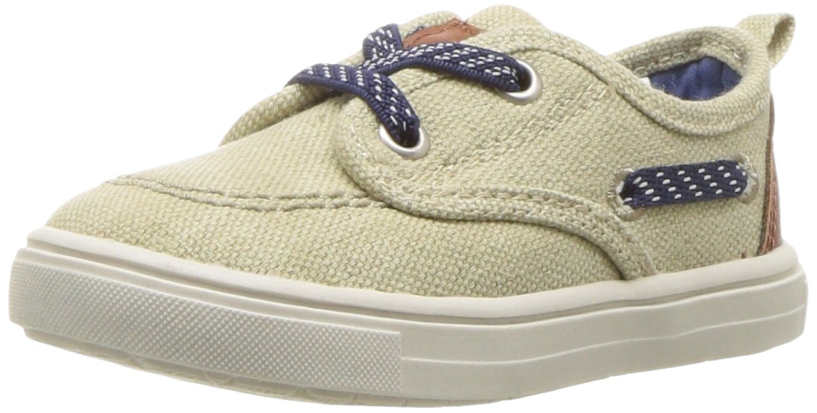 Carter's Boys' Blaze Casual Boat Shoe, Khaki, 7 M US Toddler