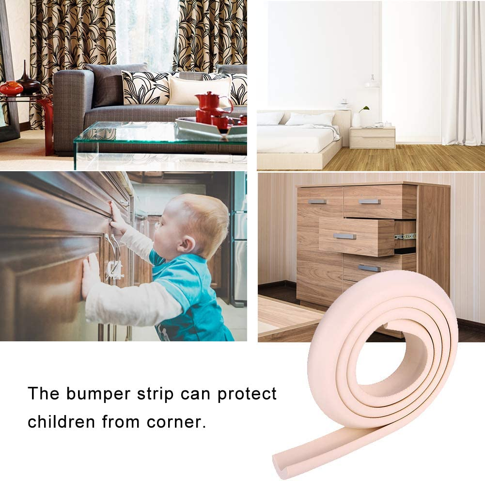 Table Protector Bumper Pink 2M Kids Baby Safety Rubber Bumper Strip Table Edge Safe Corner Guard Proofing Corner Guards Soft Foam Corner Cushion Bumper for Furniture at Home /& Nursery