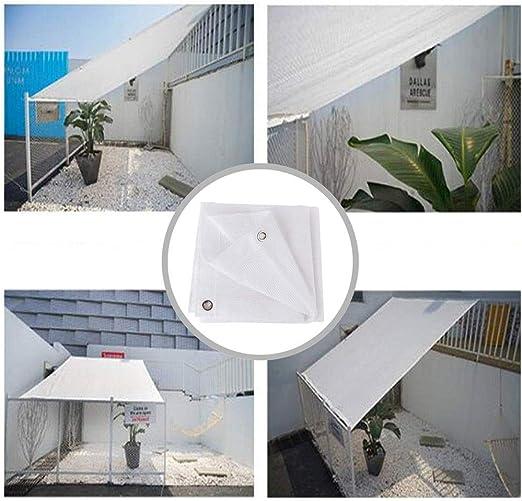 Blanco Malla de Sombra Jardín Patio Sun Shade Sail Pabellón 95% de ...