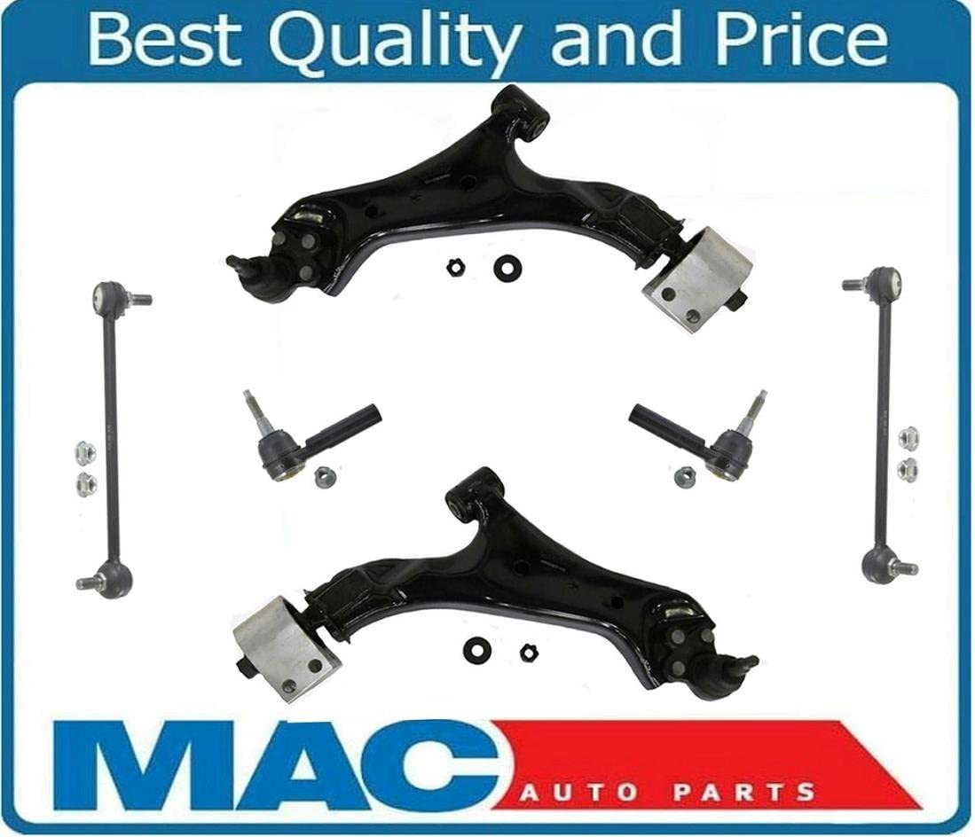 Lower Control Arms W BJ Outer Tie Rods /& Links Fits Equinox 10-16 Terrain 10-16